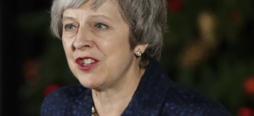 LONDON, Dec. 12, 2018 (Xinhua) -- British Prime Minister Theresa May makes a statement after winning the confidence vote outside 10 Downing Street in London, Britain, on Dec. 12, 2018. Theresa May on Wednesday won by a large margin a confidence vote by her fellow Conservative members of parliament. (Xinhua/Han Yan/IANS)