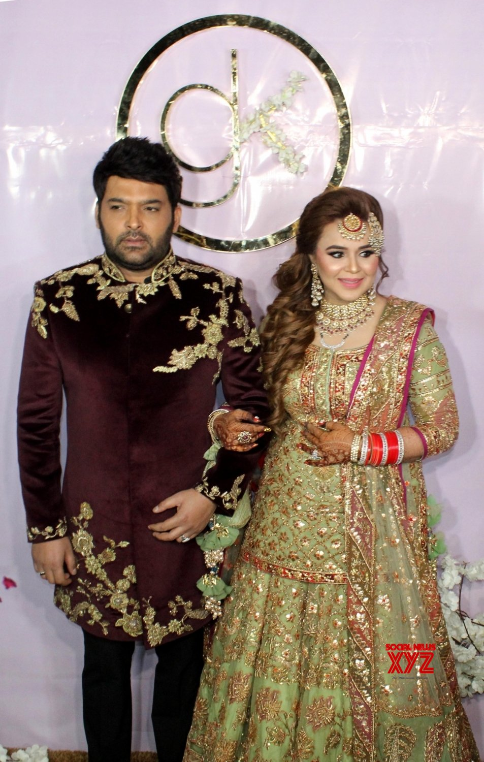 Amritsar: Kapil Sharma, Ginni Chatrath at their wedding reception #Gallery