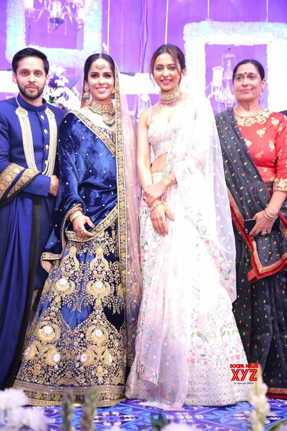 Hyderabad: - Wedding reception of Saina Nehwal and Parupalli Kashyap #Gallery