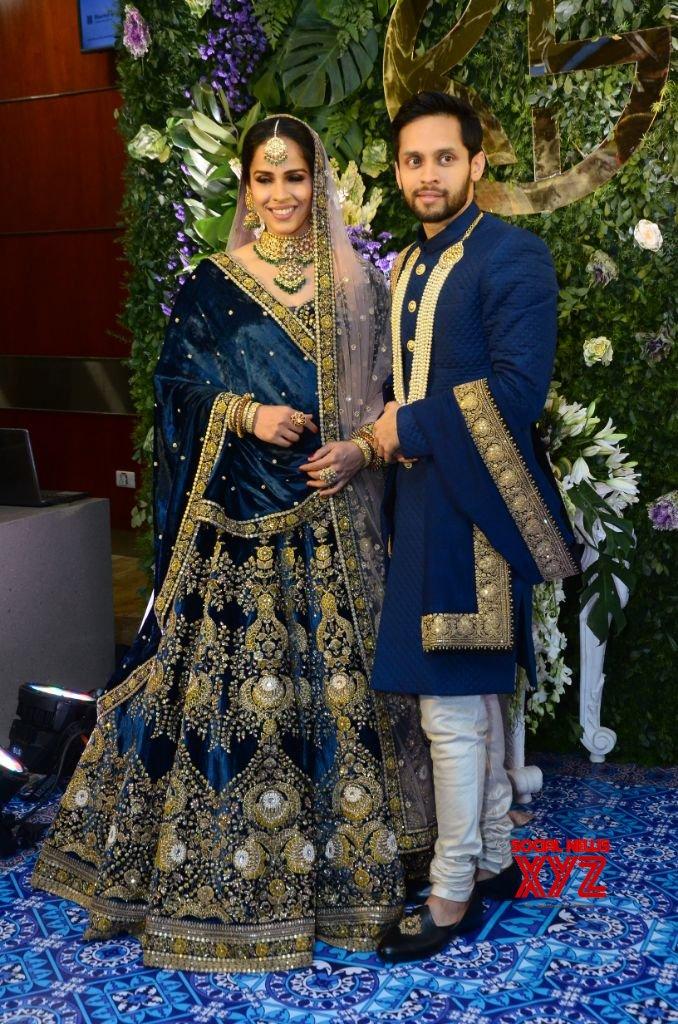 Saina Nehwal And Parupalli Kashyap Wedding Reception At HICC Novotel Gallery Set 3