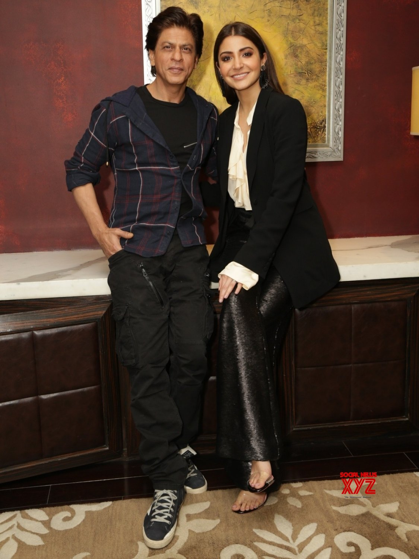Gurugram: Shah Rukh Khan and Anushka Sharma during promotion of film Zero #Gallery