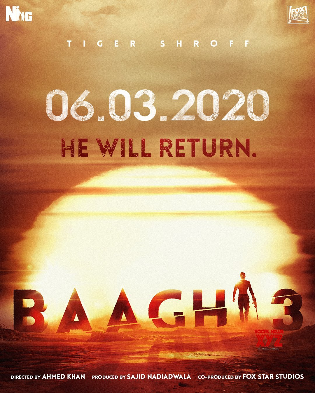 Baaghi 3 Announced, Releases March 6th 2020