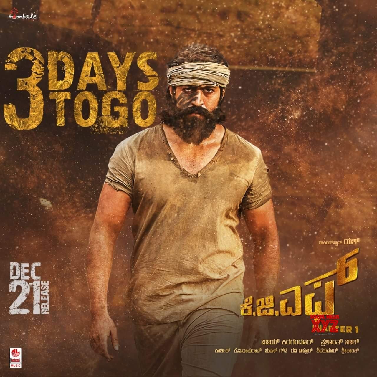 KGF Movie 3 Days To Go Posters