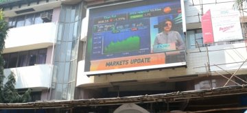 New Delhi: Mumbai: A view of the Bombay Stock Exchange (BSE) in Mumbai on Feb 5, 2018. Weak global cues, along with heavy selling pressure in banking, capital goods, consumer durables and finance stocks, pulled the key Indian equity indices lower during the mid-afternoon trade session on Monday. On the BSE, the barometer 30-scrip Sensitive Index (Sensex), which opened at 34,718.85 points, traded at 34,794.66 points -- down 272.09 points or 0.78 per cent from Friday's close. The BSE market breadth was bearish as 1,776 stocks declined as against 854 advances. (Photo: IANS)