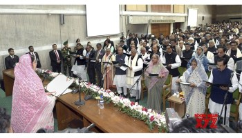 Dhaka: Bangladesh's newly - elected MPs sworn in, opposition