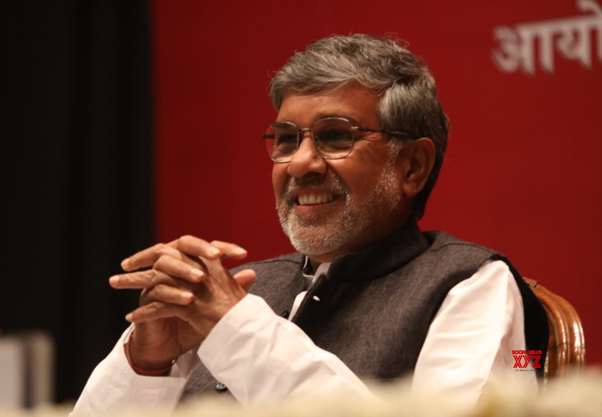 "New Delhi: Kailash Satyarthi during a session on ""Safe Childhood, Safe India"" #Gallery"