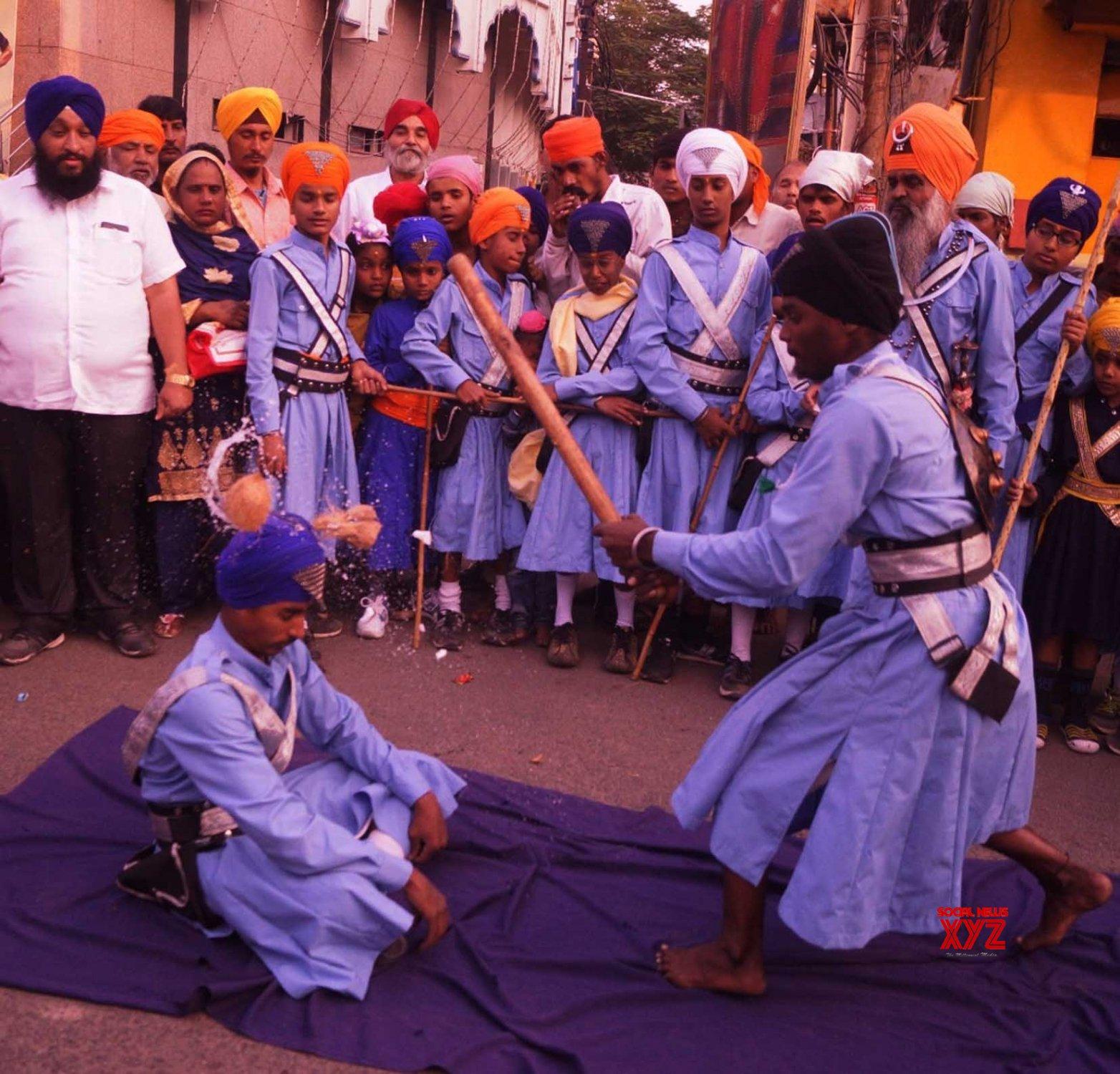 Hyderabad: Guru Gobind Singh's birth anniversary - religious procession #Gallery