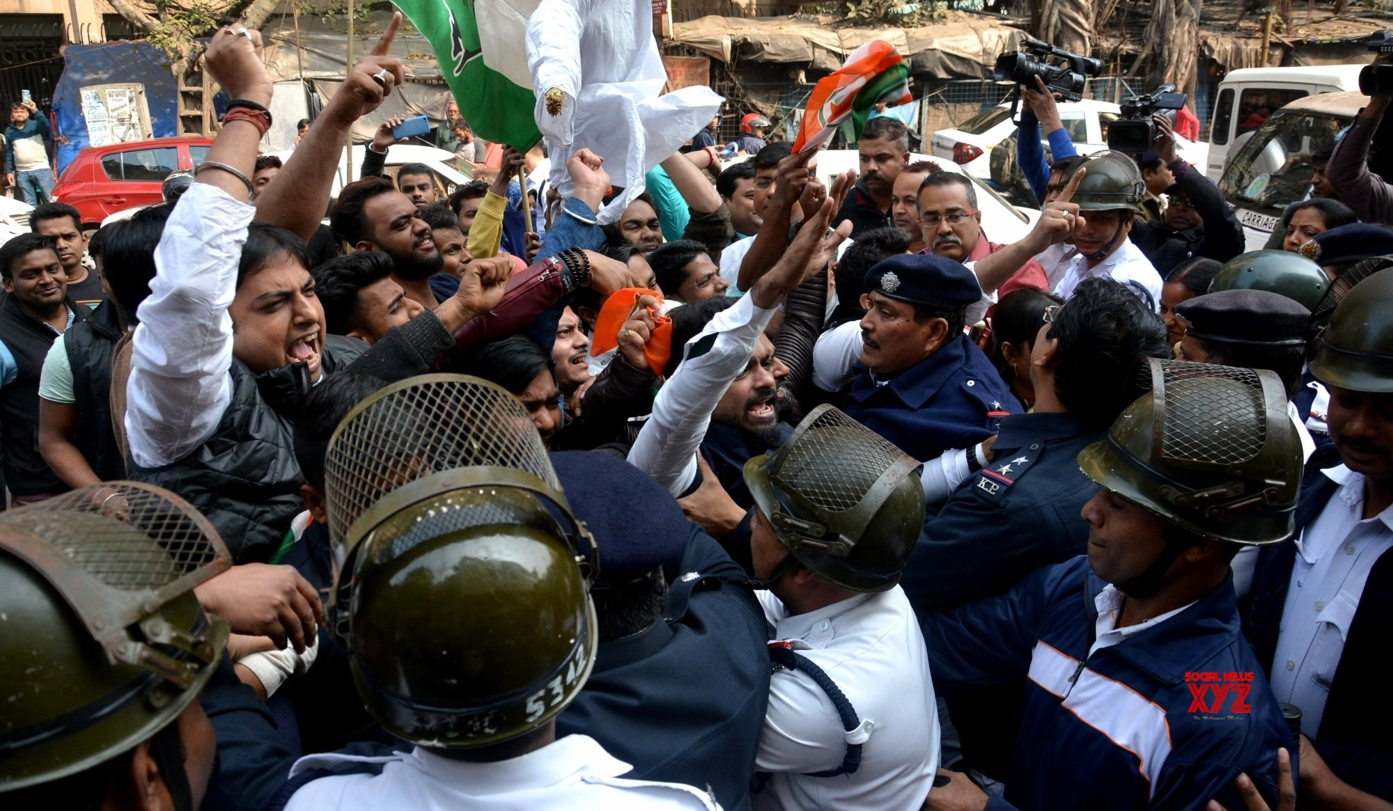"""Kolkata: Youth Congress demonstration against """"The Accidental Prime Minister"""" #Gallery"""