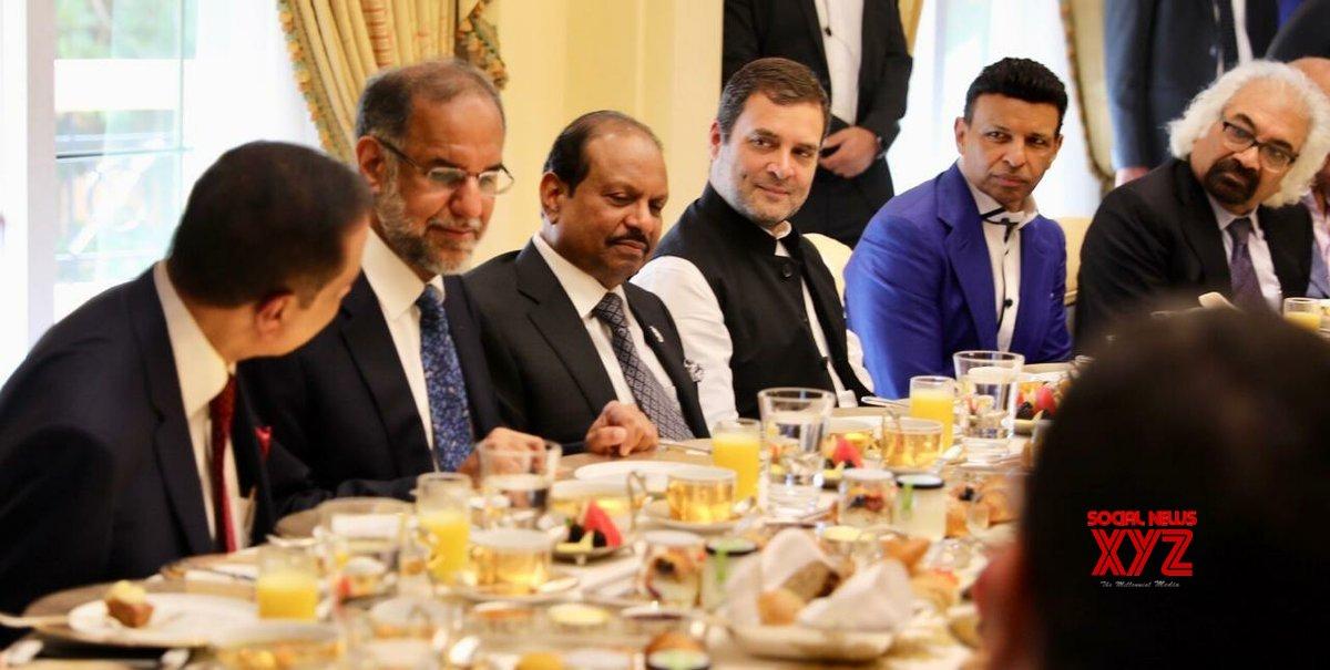 Dubai: Rahul Gandhi at business breakfast in UAE #Gallery