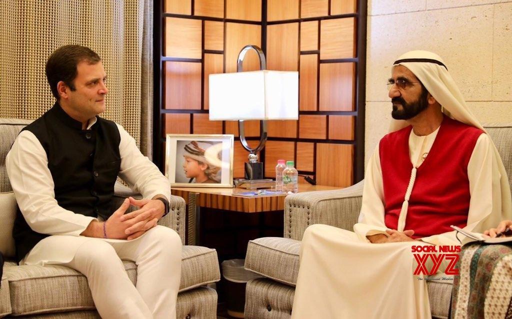 Dubai: Rahul Gandhi meets UAE PM #Gallery