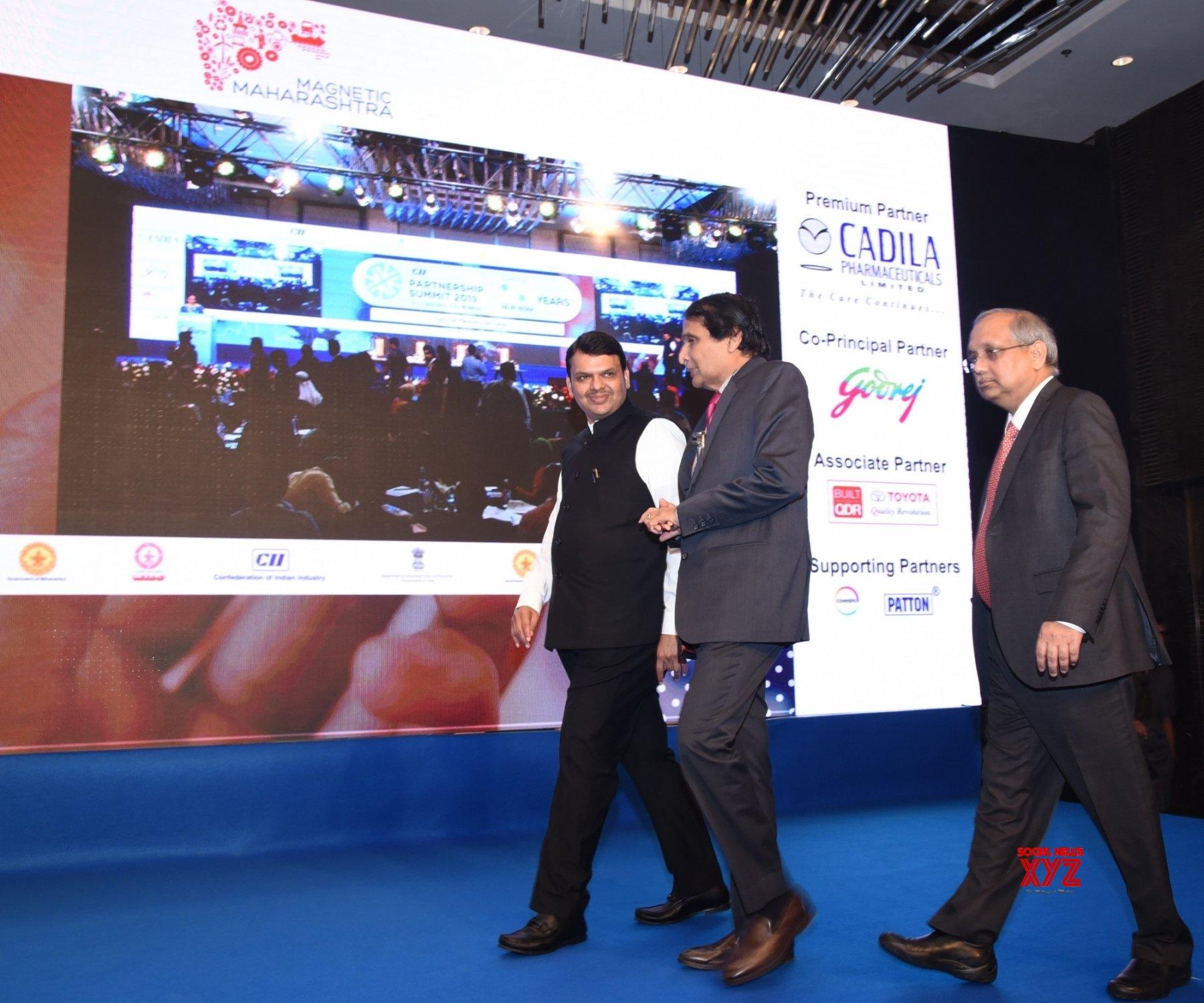 Mumbai: CII Partnership Summit 2019 - Devendra Fadnavis, Suresh Prabhakar #Gallery