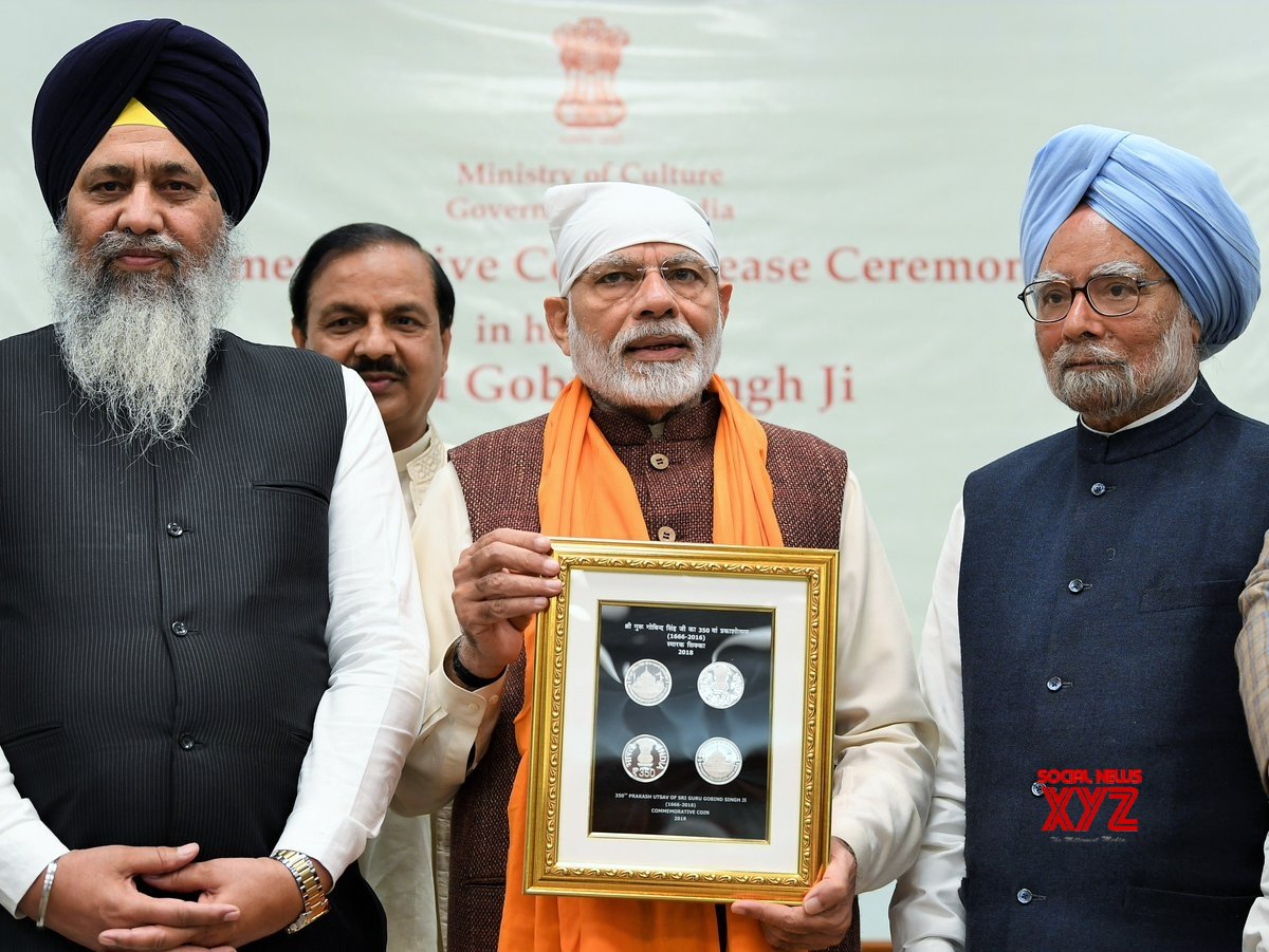 New Delhi: - PM Modi releases commemorative coin on Guru Gobind Singh's birth anniversary #Gallery