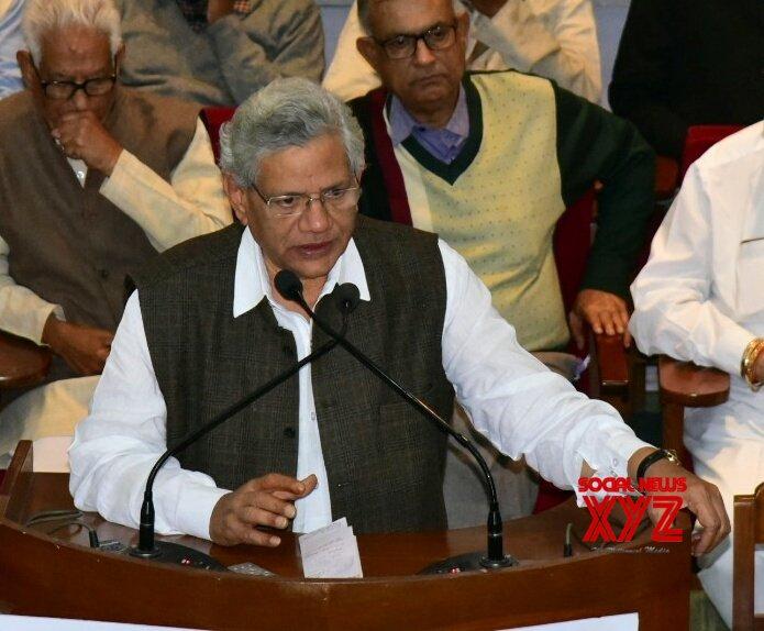 Kolkata: Sitaram Yechury at Nirupam Sen's condolence meet #Gallery
