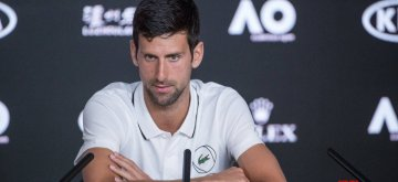 MELBOURNE, Jan. 13, 2019 (Xinhua) -- Novak Djokovic of Serbia speaks during a press conference of 2019 Australian Open at Melbourne Park in Melbourne, Australia, on Jan. 13, 2019. (Xinhua/Hu Jingchen/IANS)