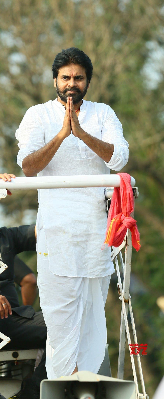 JanaSena Chief Pawan Kalyan Rally In Tenali Gallery Set 5