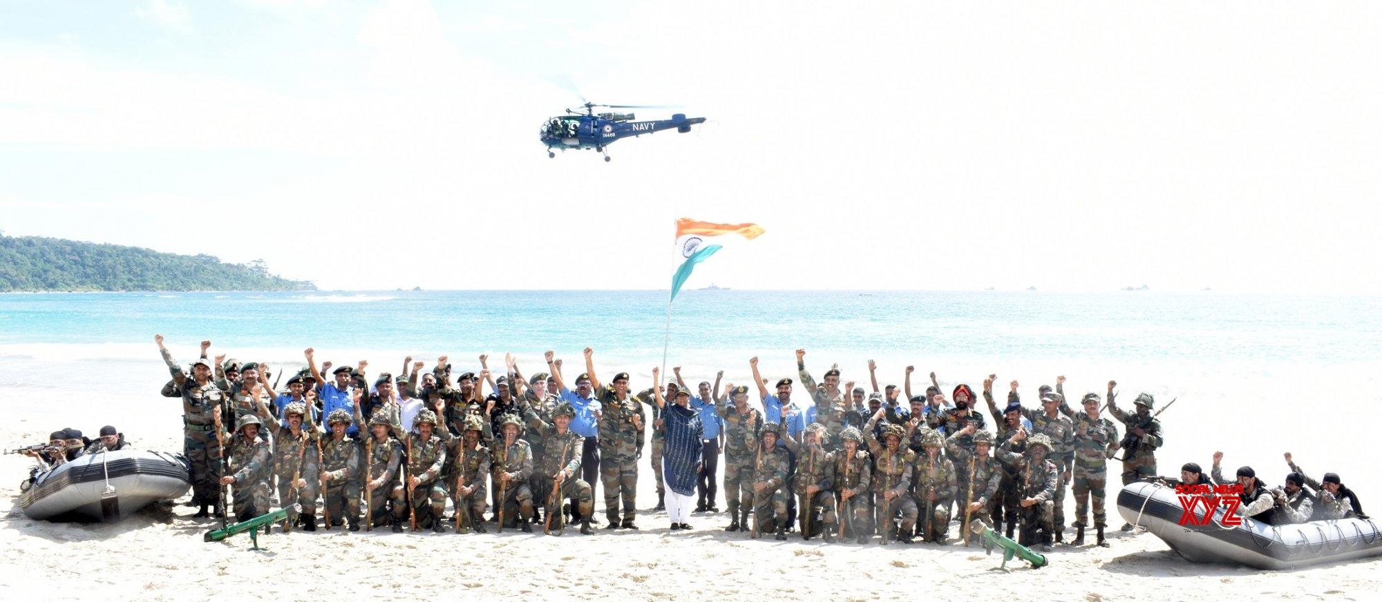 Port Blair: Nirmala Sitharaman with ANC troops #Gallery