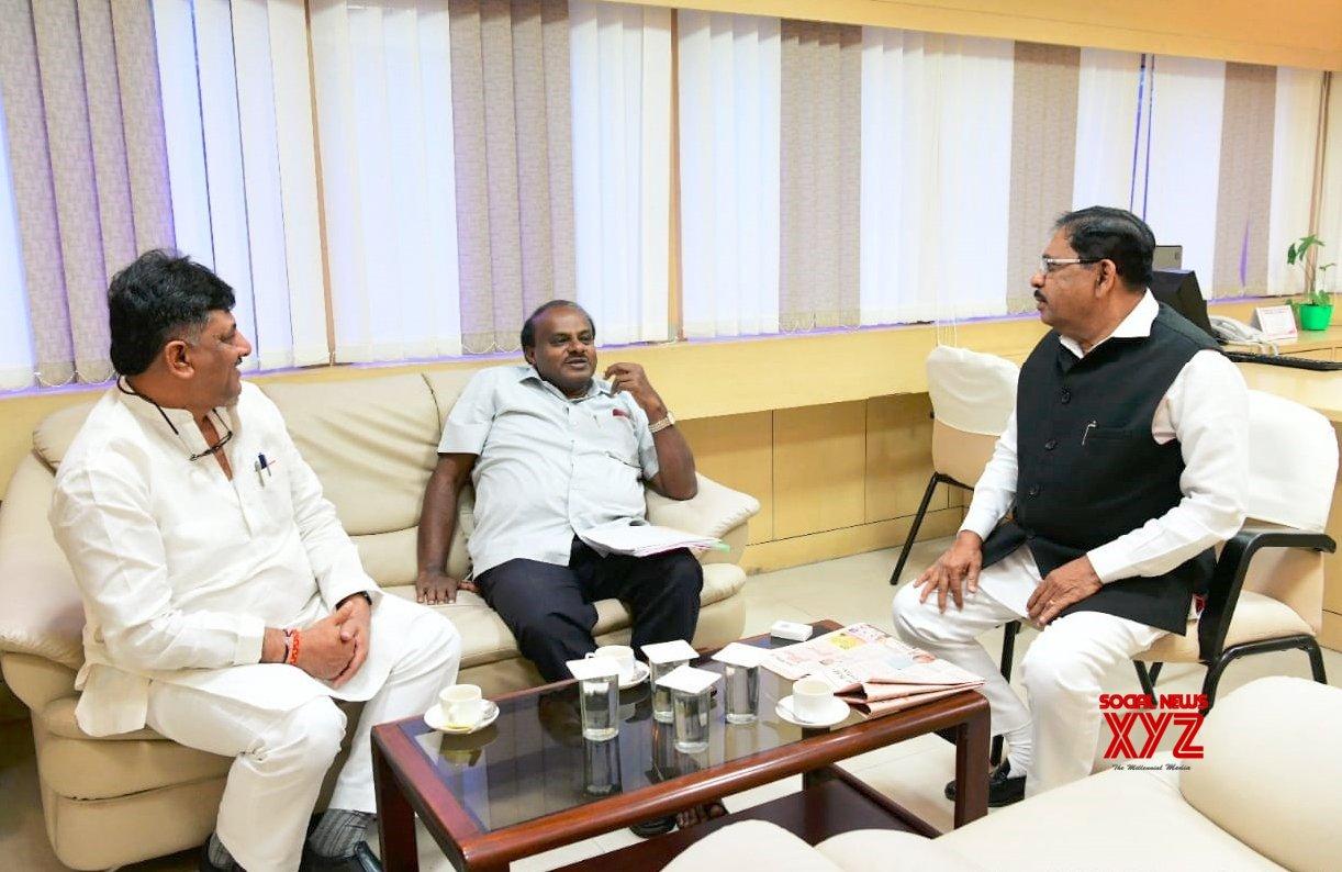 Bengaluru: Karnataka Power Corporation Office discussion - Karnataka CM Kumaraswamy #Gallery