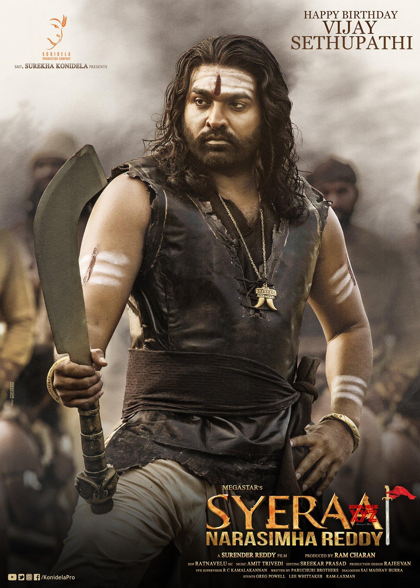Image result for vijay sethupathi sye raa poster