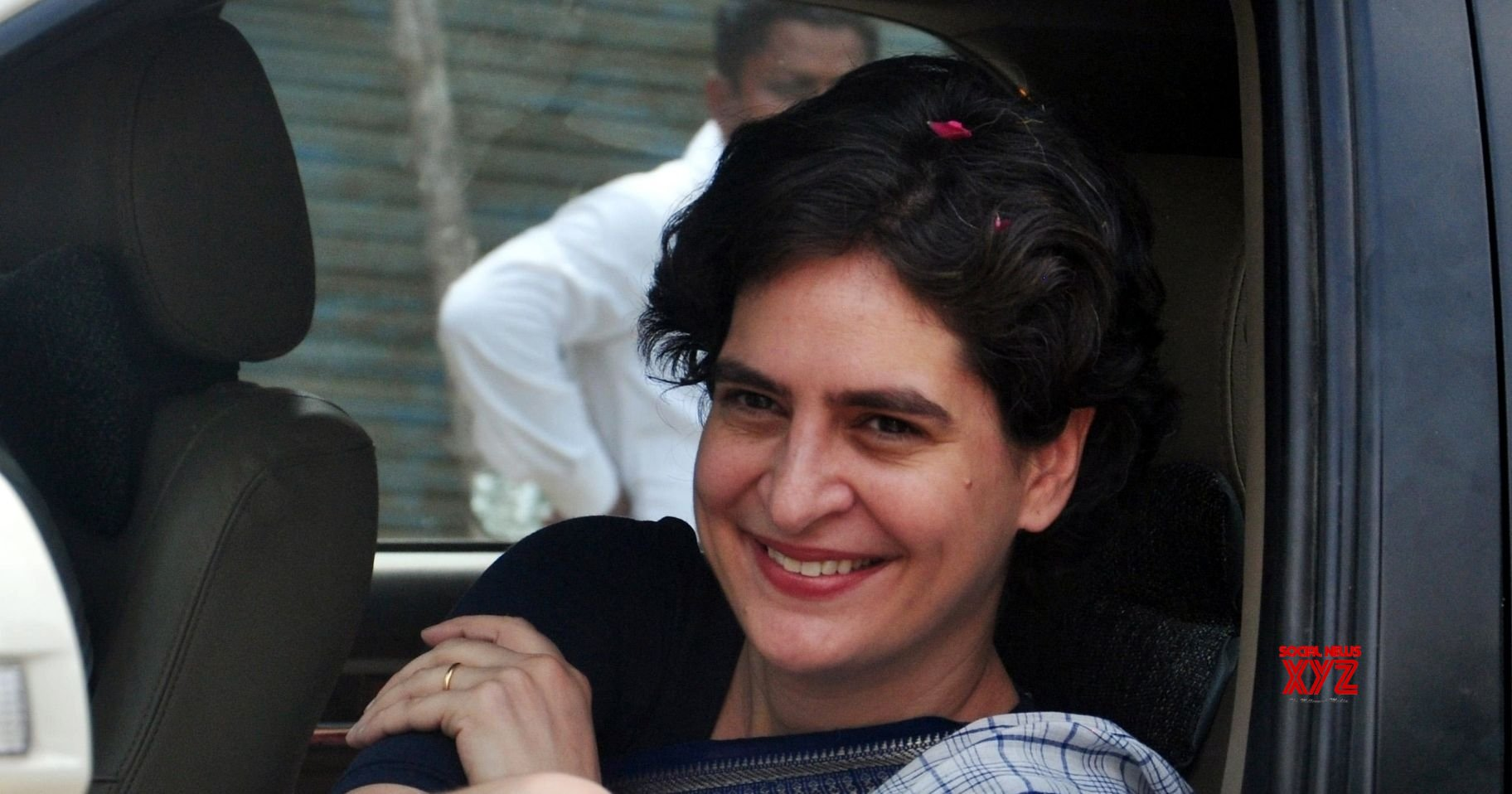 Priyanka Gandhi in Lucknow to meet party workers
