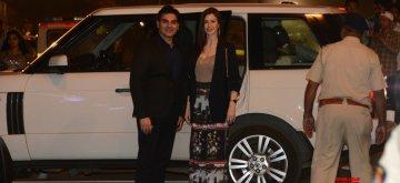 Mumbai: Actor Arbaaz Khan with girlfriend Georgia Andriani at Umang Awards 2019 in Mumbai on Jan. 27, 2019 (Photo: IANS)