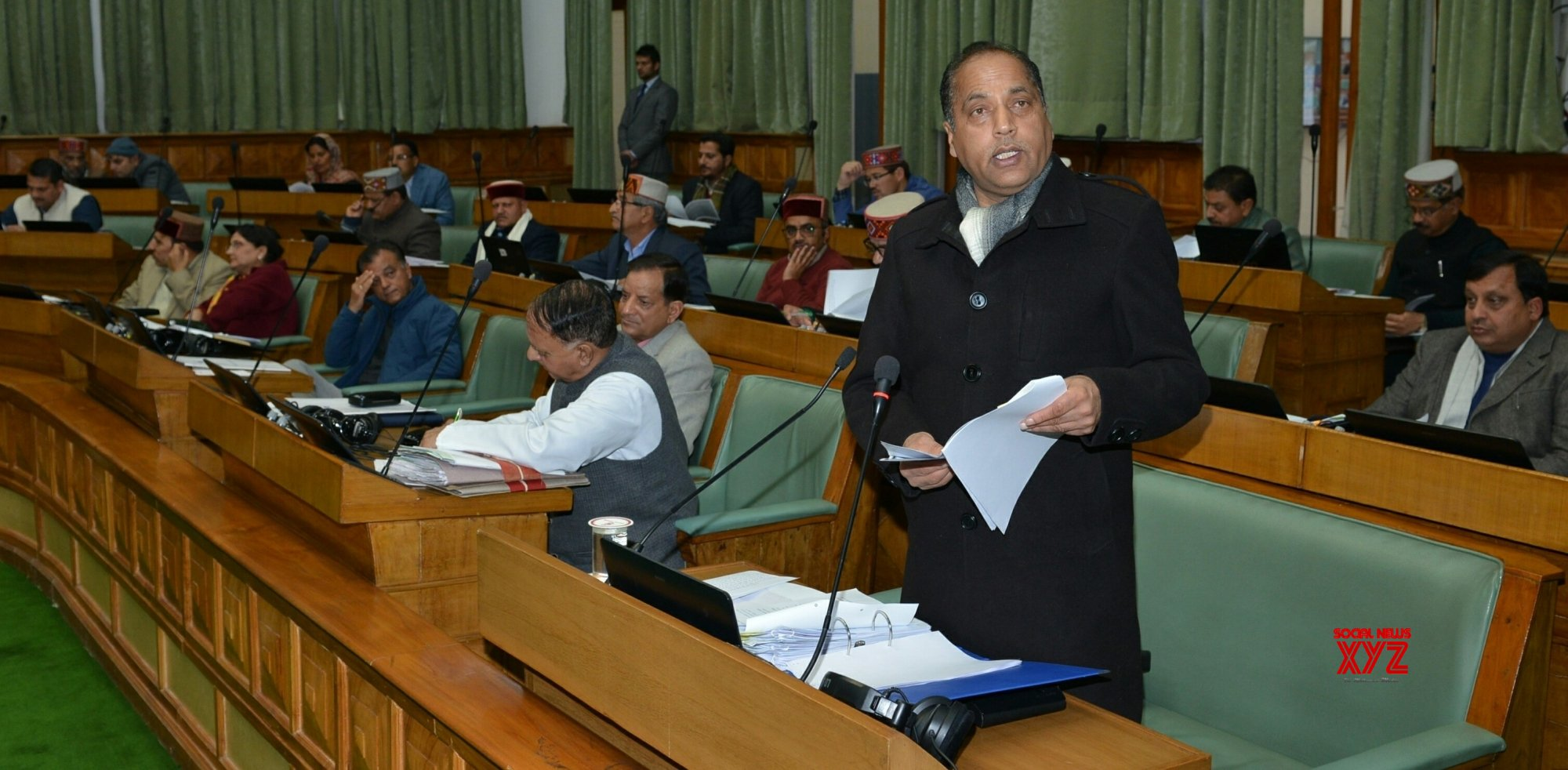 Shimla: Himachal CM addresses in state assembly #Gallery
