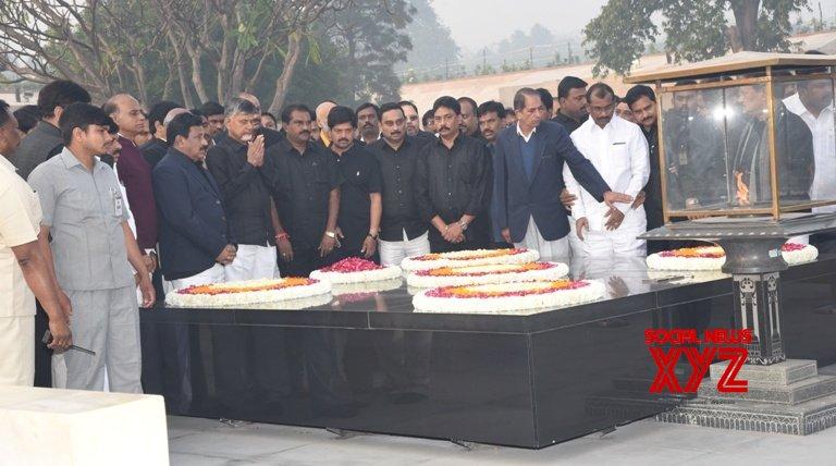 New Delhi: Andhra Pradesh CM visits Raj Ghat #Gallery