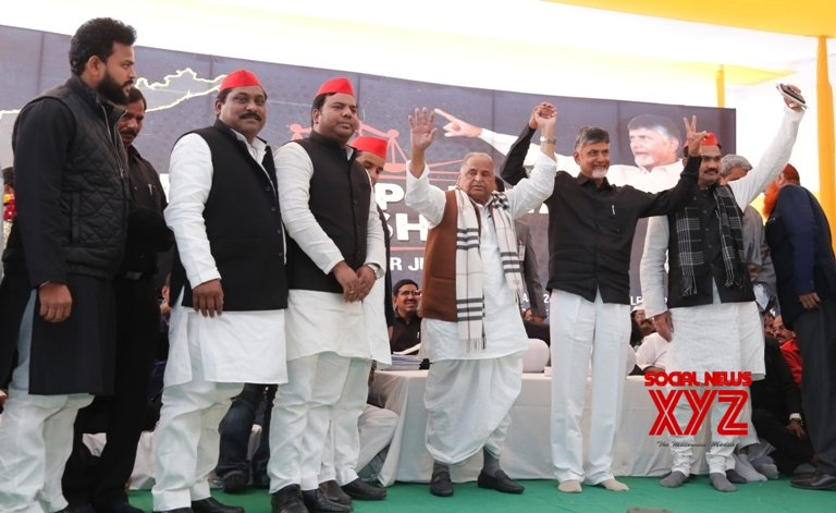 New Delhi: Mulayam extends support to Chandrababu Naidu #Gallery