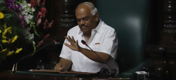 Bengaluru: Karnataka Assembly Speaker K.R. Ramesh Kumar during the Budget Session of the state assembly, in Bengaluru on Feb 7, 2019. (Photo: IANS)