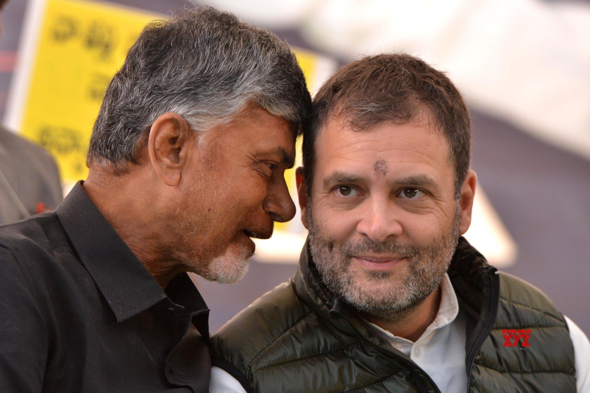 New Delhi: Rahul Gandhi extends support to Chandrababu Naidu #Gallery