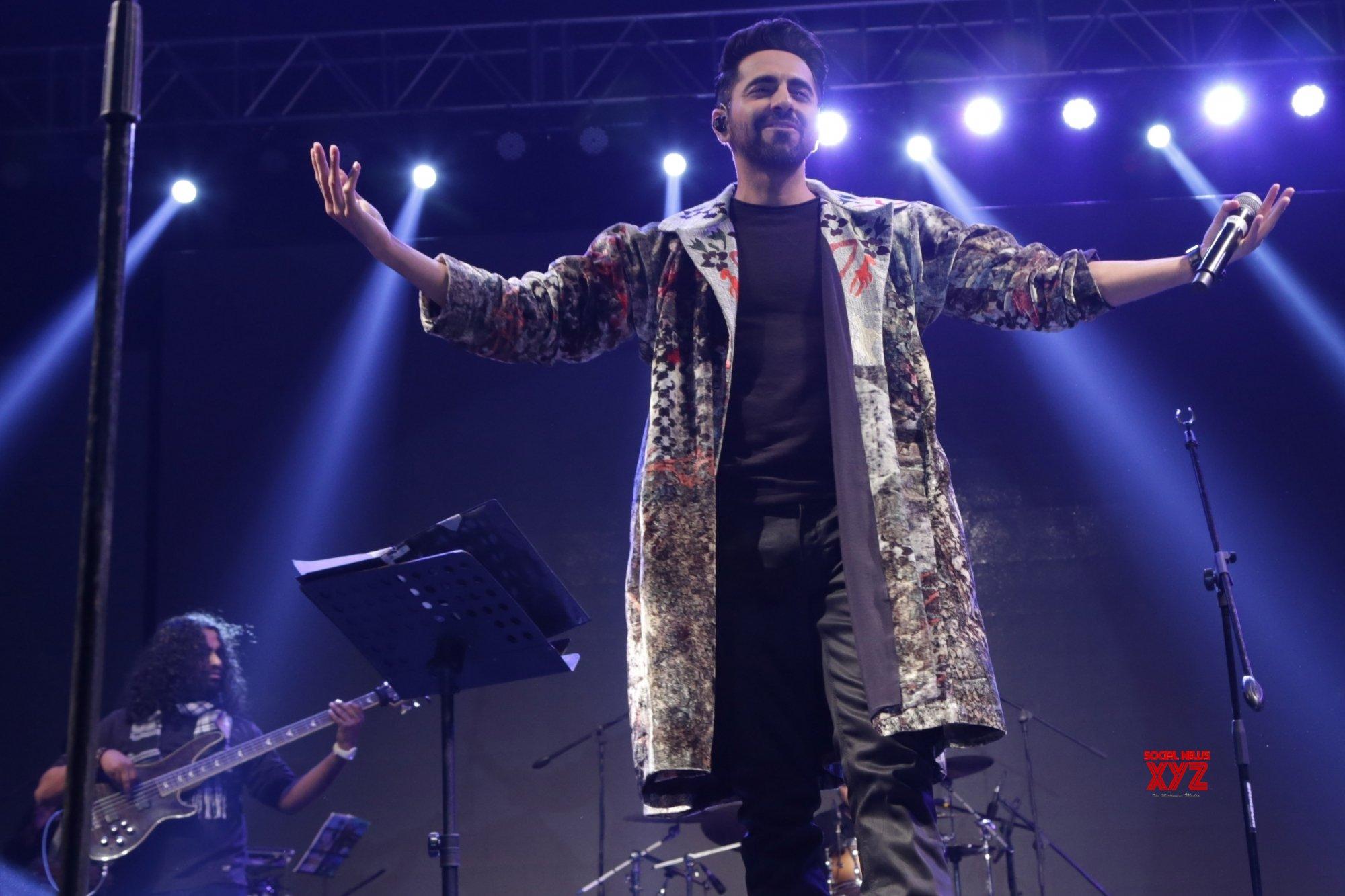 New Delhi: Ayushmann Khurana performing live #Gallery