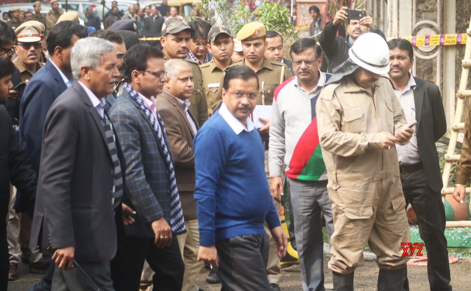 New Delhi: Arvind Kejriwal visits Hotel Arpit Palace #Gallery