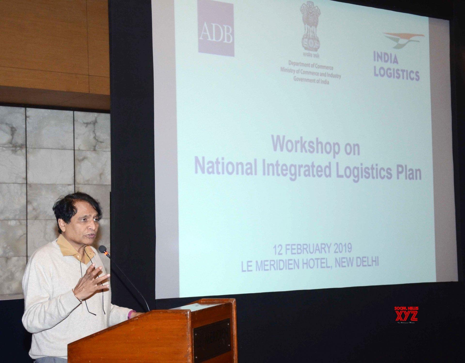 New Delhi: Suresh Prabhu at workshop on National Integrated Logistics Plan #Gallery