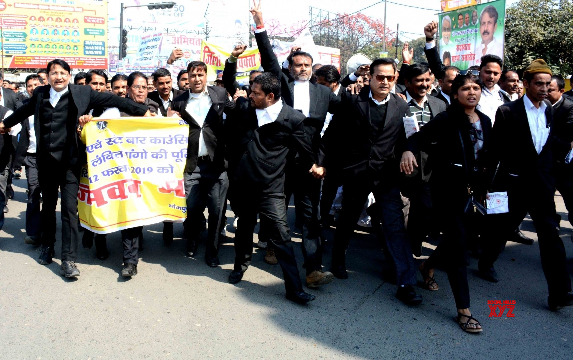 Patna: Lawyers' protest march #Gallery