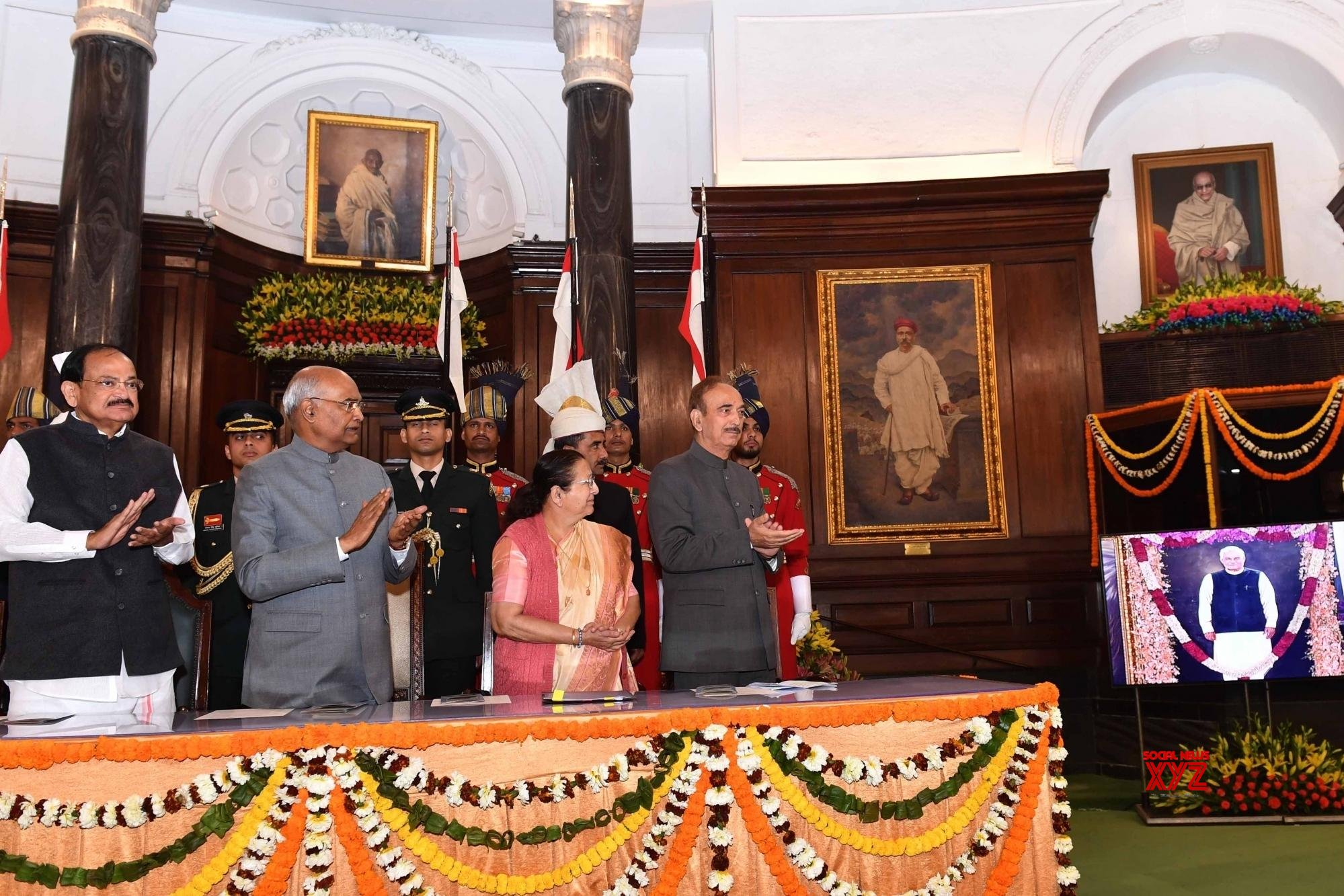 New Delhi: President Ram Nath Kovind, unveils the portrait of former Prime Minister, Atal Bihari Vajpayee #Gallery