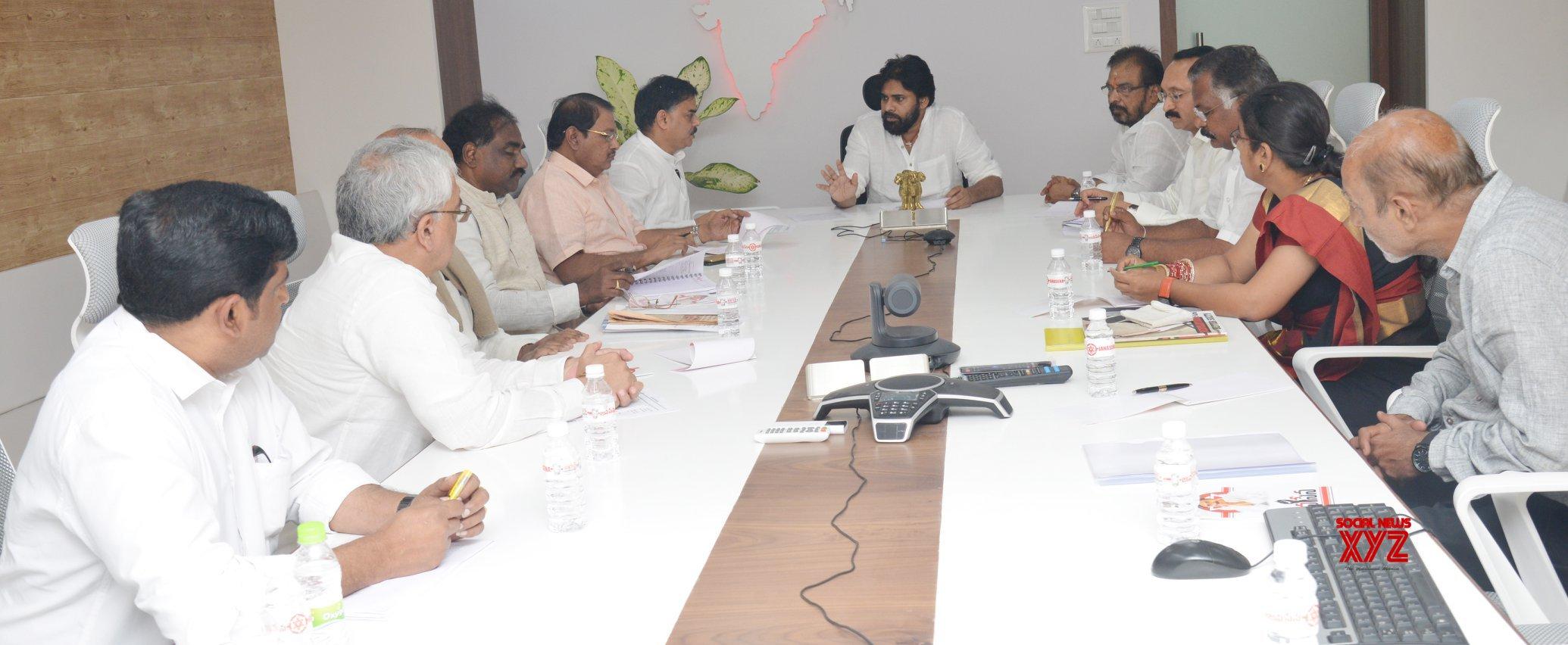 Janasena Chief Pawan Kalyan At Janasena PAC Meeting In Vijayawada - Gallery