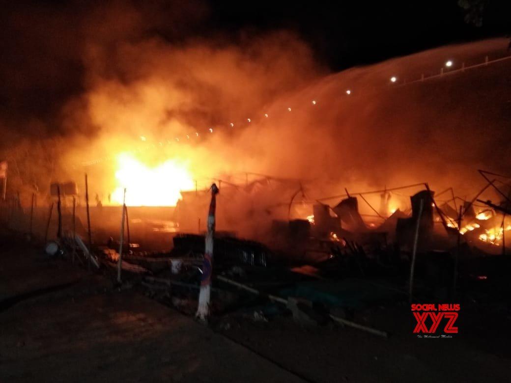 Narmada: Fire in Gujarat godown #Gallery