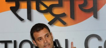 New Delhi: Congress President Rahul Gandhi addresses a press conference regarding alleged scam in Rafale deal in New Delhi on Feb 13, 2019. (Photo: IANS)