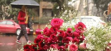New Delhi: Roses for sale on Valentine's Day in New Delhi, on Feb 14, 2019. (Photo: IANS)