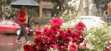 New Delhi: Roses for sale on Valentine's Day in New Delhi, on Feb 14, 2019. (Photo: IANS)