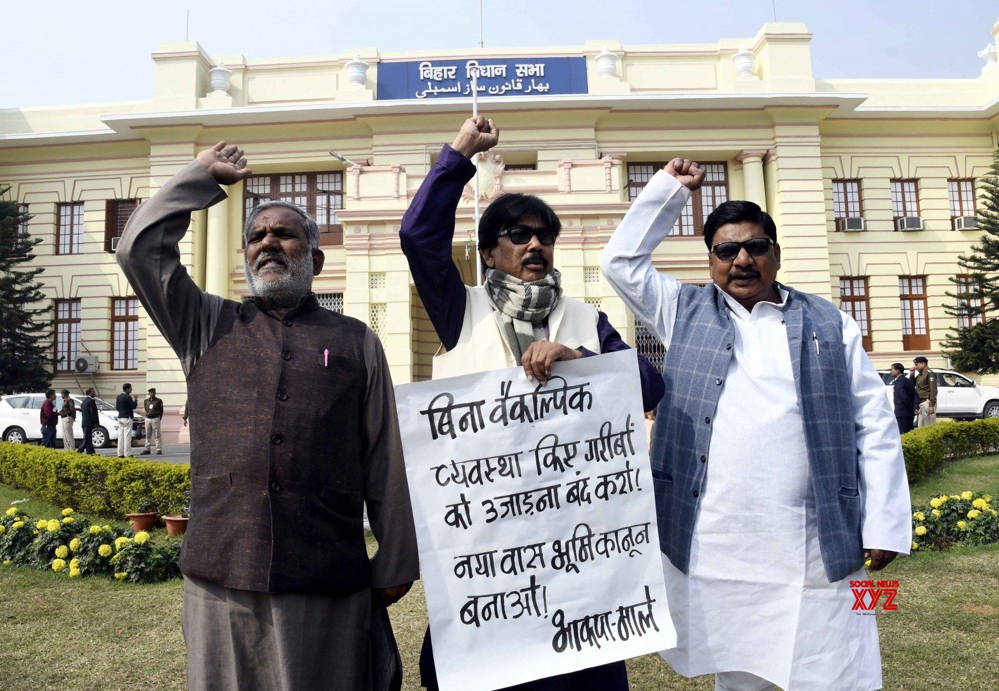 Patna: CPI - ML demonstration at Bihar Assembly #Gallery