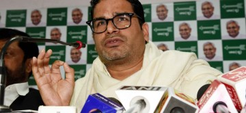 Patna: JD(U) leader Prashant Kishore addresses a press conference in Patna on Feb 11, 2019. (Photo: IANS)