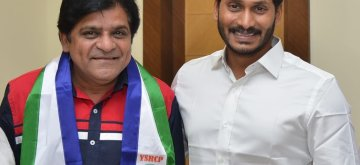 Hyderabad: Telugu actor Ali joins YSR Congress Party in the presence of party chief YS Jagan Mohan Reddy in Hyderabad, on March 11, 2019. (Photo: IANS)