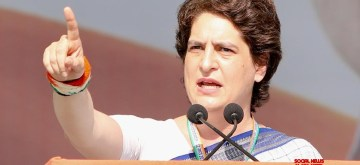Gandhinagar: Congress leader Priyanka Gandhi addresses during Jan Sankalp Rally in Gandhinagar, on March 12, 2019. (Photo: IANS/AICC)
