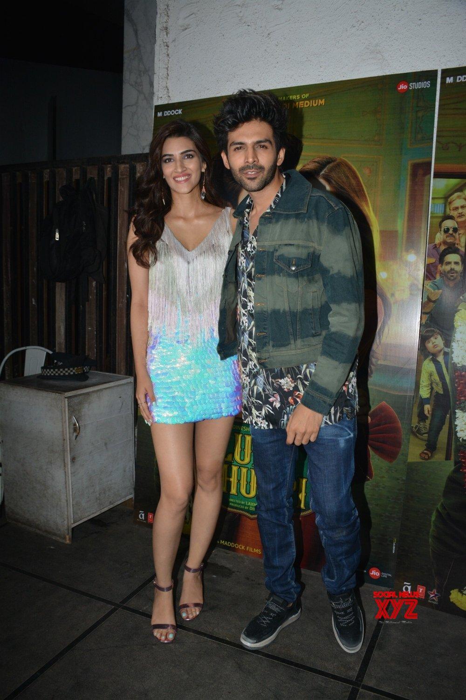 """Mumbai: """"Luka Chuppi"""" success party - Kriti Sanon, Kartik Aaryan #Gallery"""