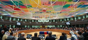 """BRUSSELS, March 14, 2019 (Xinhua) -- The third conference on """"Supporting the future of Syria and the region"""" - Meeting of Foreign Ministers is held at the EU Council in Brussels on March 14, 2019. (Xinhua/Zheng Huansong/IANS)"""