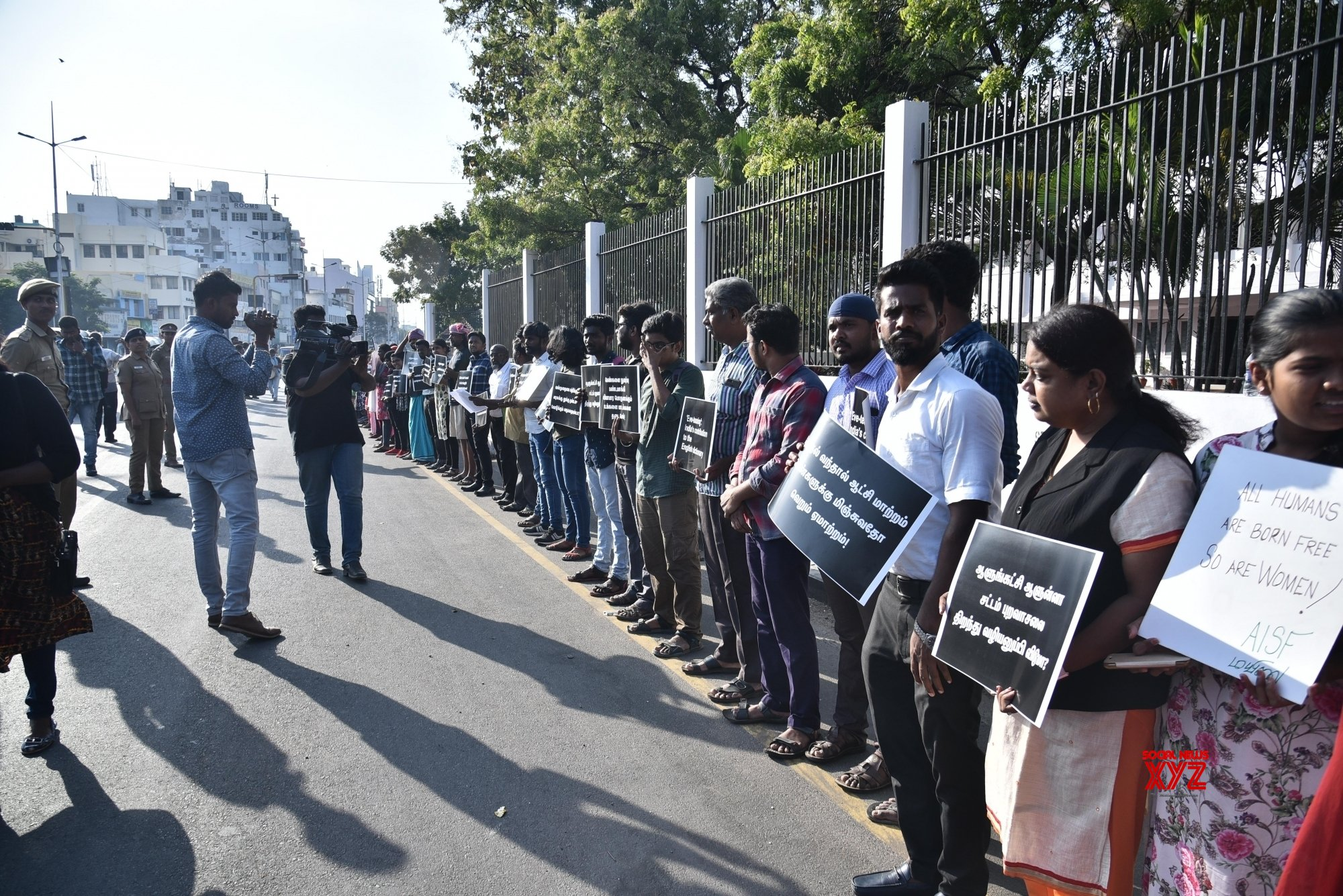 Chennai: People protest against Pollachi sexual assault case #Gallery