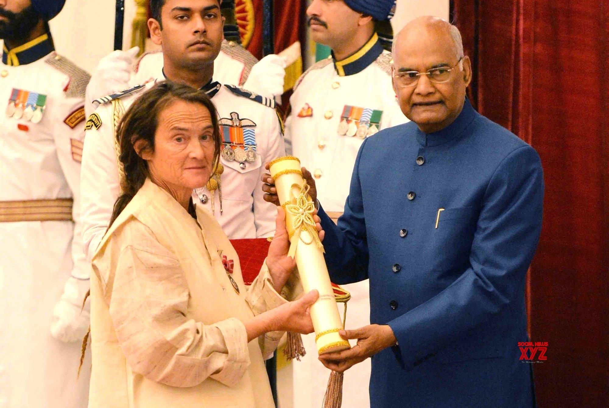 New Delhi: President Kovind presents Padma Awards - Friederike Irina Bruning (Batch - 1) #Gallery