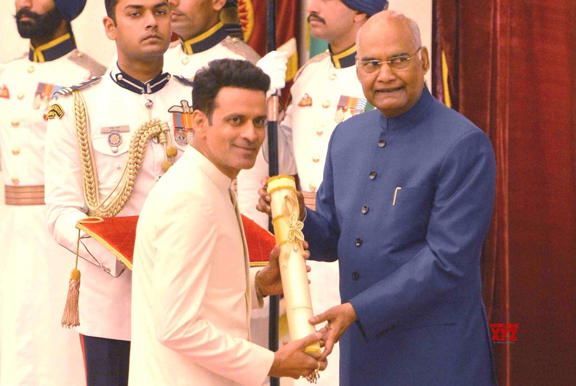 New Delhi: President Kovind presents Padma Awards - Manoj Bajpayee (Batch 8) #Gallery