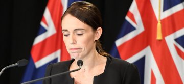 (190316) -- WELLINGTON, March 16, 2019 (Xinhua) -- New Zealand Prime Minister Jacinda Ardern reacts during a briefing in Wellington, capital of New Zealand, on March 16, 2019. Jacinda Ardern reiterated to the public on Saturday morning that the country's gun law will be changed. Gunmen opened fire in two separate mosques in Christchurch on Friday, killing 49 people and wounding 48 others. (Xinhua/Guo Lei)