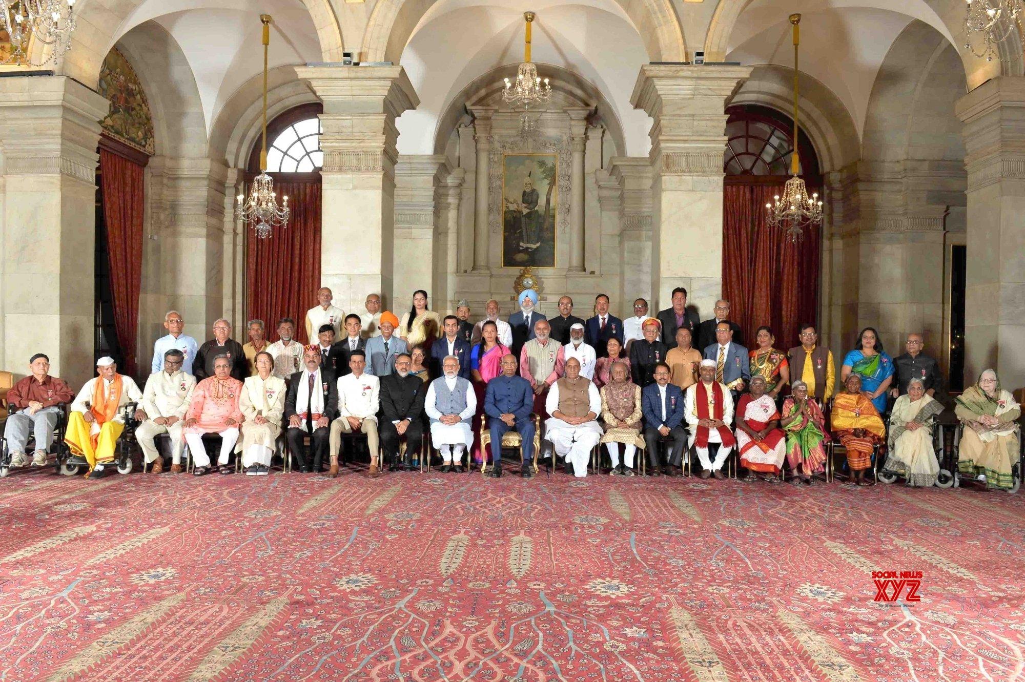 New Delhi: President Kovind with Padma Award recipients #Gallery